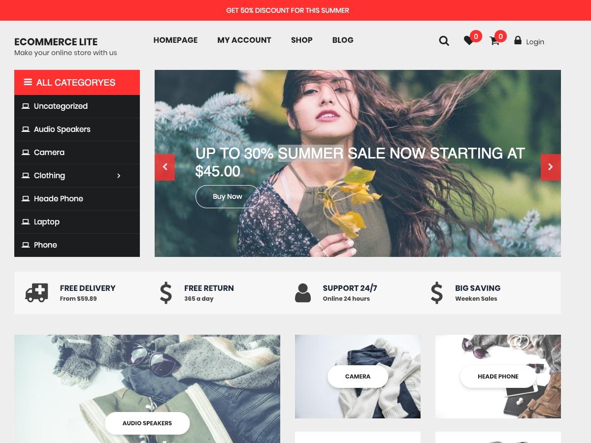 eCommerce Lite WordPress ecommerce theme
