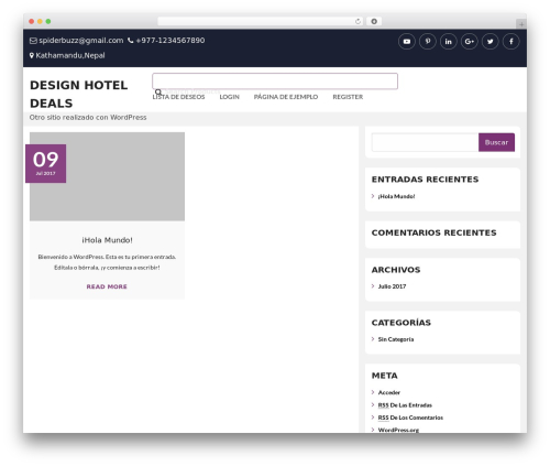 Ganess Store best hotel WordPress theme - designhoteldeals.com