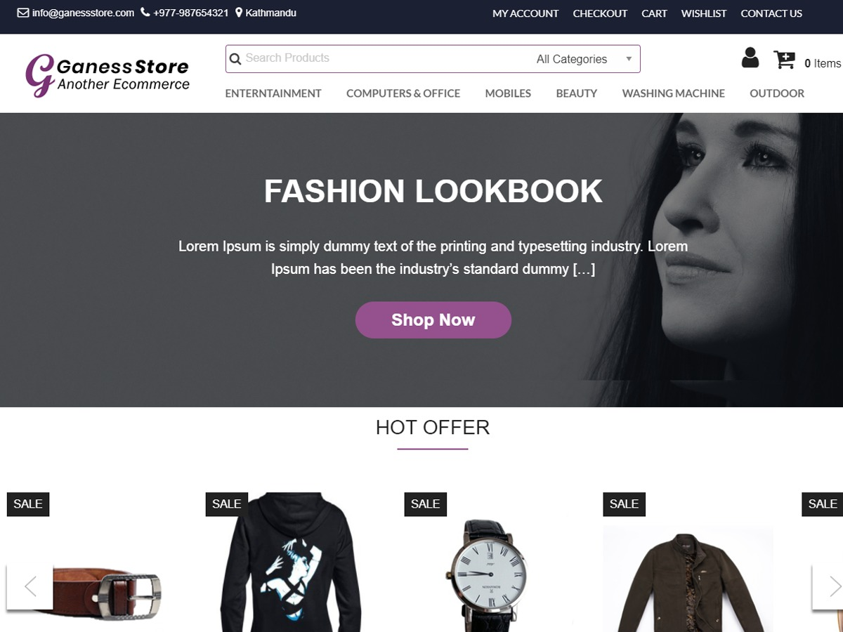 Ganess Store best WooCommerce theme