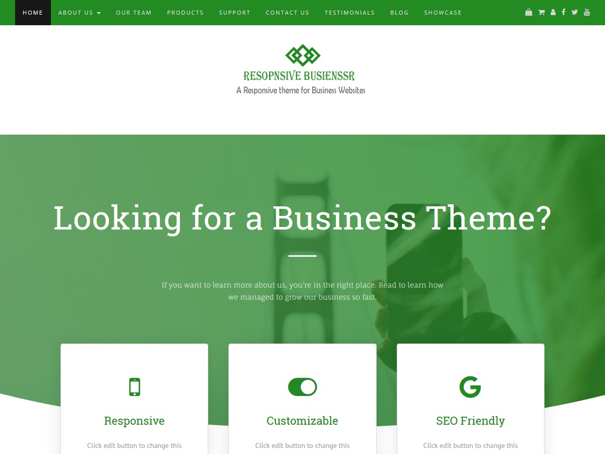 Responsive Businessr WordPress store theme