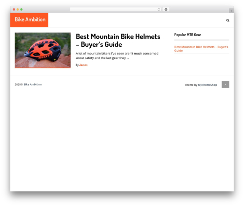 SocialNow by MyThemeShop WordPress website template - bikeambition.com