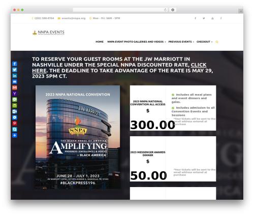Template WordPress Eventiz - nnpa-events.com