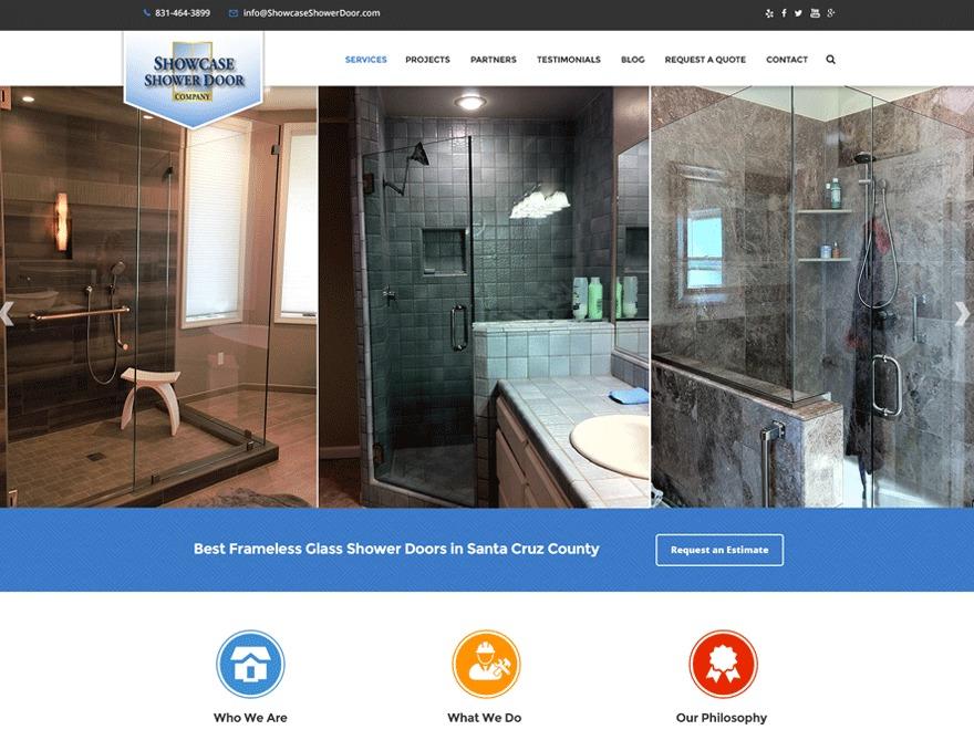 Template WordPress Showcase Shower Doors