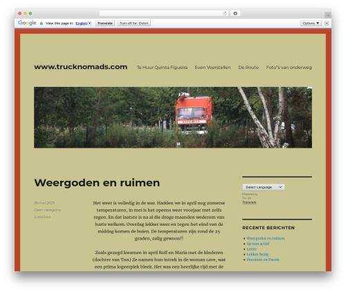 Twenty Sixteen best WordPress template - trucknomads.com