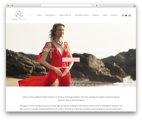 Vigor WordPress theme - nikkihillis.com