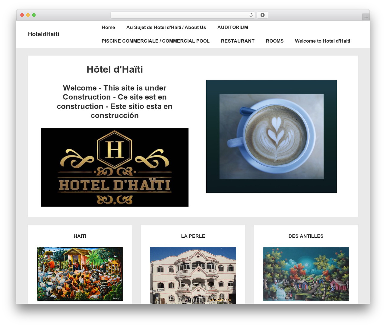 WordPress theme Responsive - hoteldhaiti.com