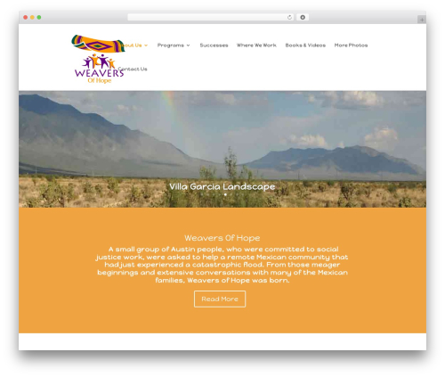 WordPress website template Divi - weaversofhope.com