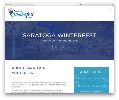 Avada fitness WordPress theme - saratogawinterfest.com