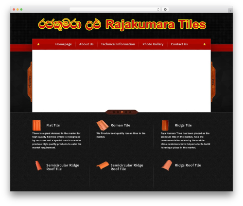 Bordeaux Premium Theme WordPress template - srilankaclayroofingtiles.com