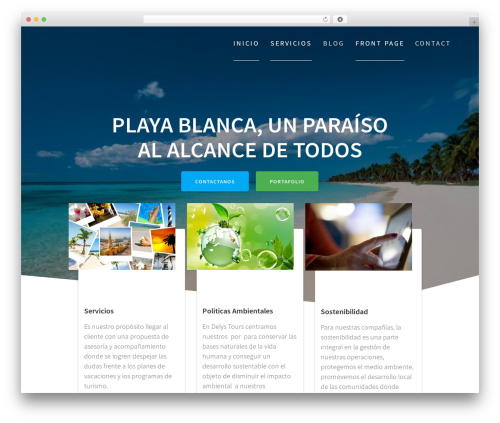 One Page Express WordPress template free download - delystours.com