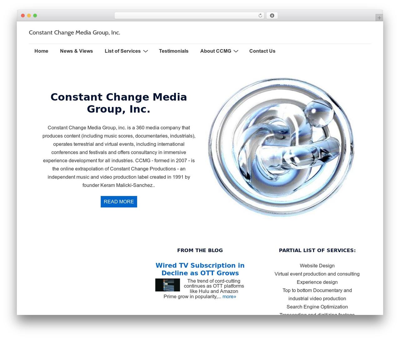 Responsive free WordPress theme - constantchangemedia.com