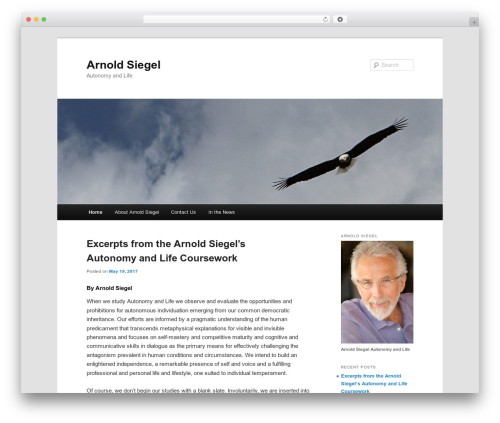 Twenty Eleven best free WordPress theme - arnoldsiegel.com