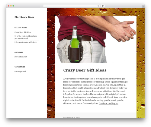 WordPress theme Twenty Fifteen - flatrockbeer.com