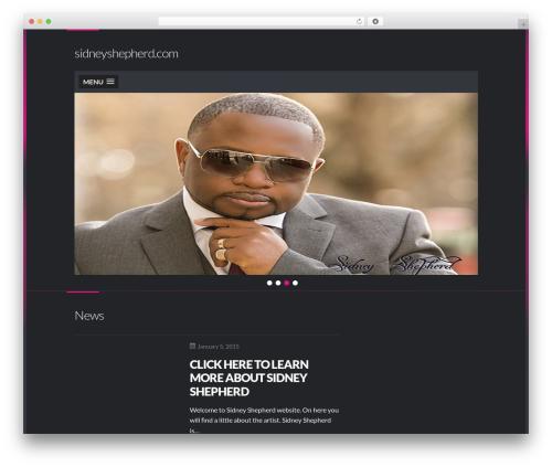 Best WordPress template Dubstep - sidneyshepherd.com