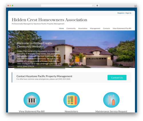 Spacious Pro WP template - hiddencresthoa.com