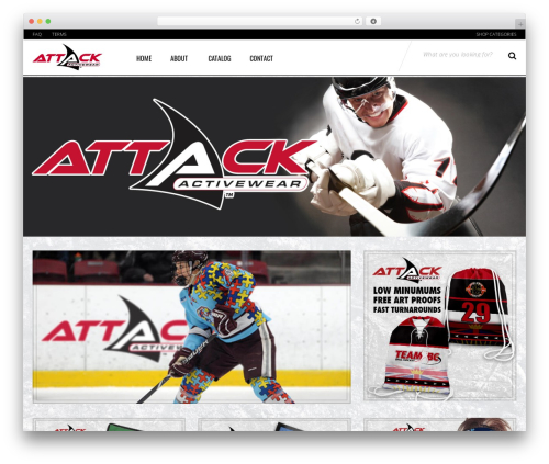 Sportexx best WordPress theme - attackactivewear.com