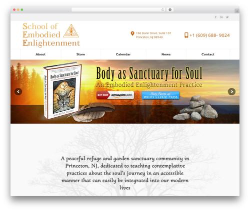 The7 WordPress theme design - schoolofembodiedenlightenment.com
