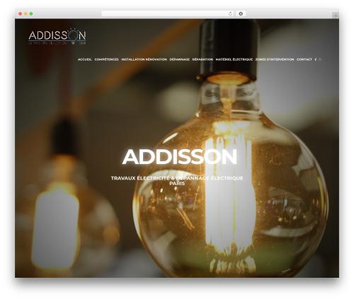 WordPress website template Oscar - addisson-electricite.com