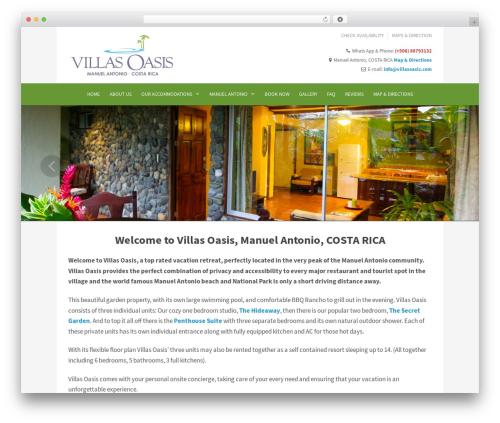 Best WordPress template Ambassador - villasoasis.com