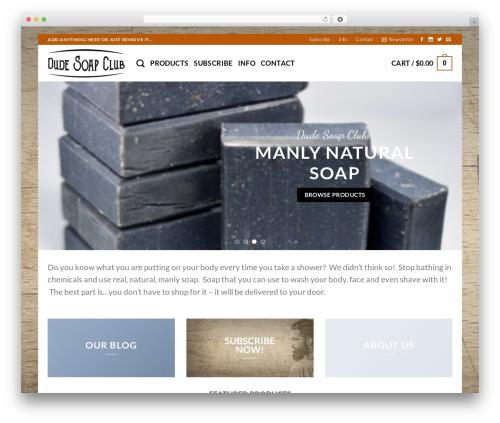 Flatsome theme WordPress - dudesoapclub.com