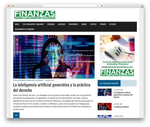 MH Newsdesk lite best free WordPress theme - pedroluismartinolivares.com