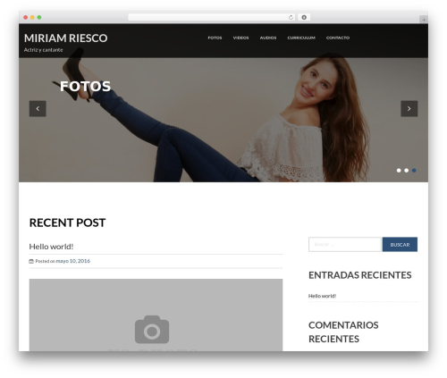 Moment free WordPress theme - miriamriesco.com