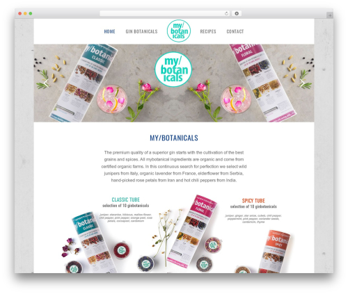 WordPress theme X - my-botanicals.com