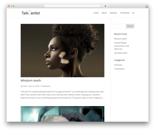 Best WordPress theme Divi - talkdentist.com
