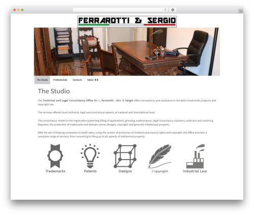 Responsive WordPress template free download - ferrarotti-legalconsultancy.com
