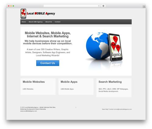 Responsive WordPress theme free download - localmobileagency.com