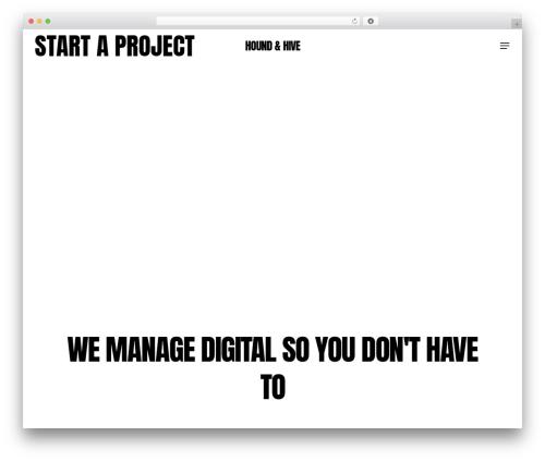 Salient WordPress page template - houndandhive.com