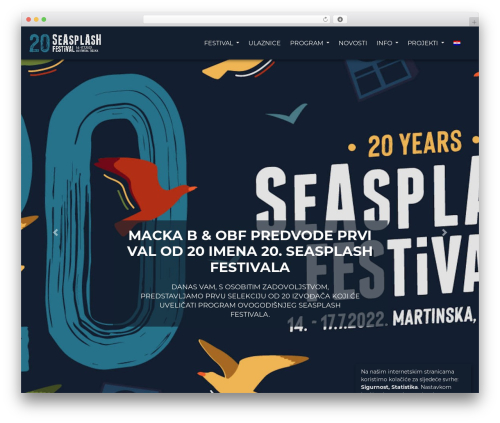 Seasplash WordPress theme design - seasplash-festival.com