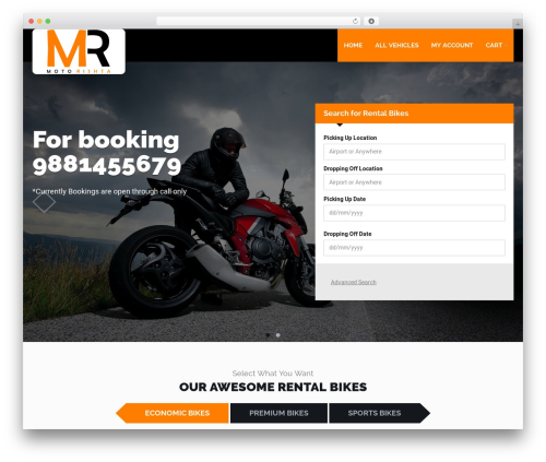 Template WordPress RentIt - motorishta.com