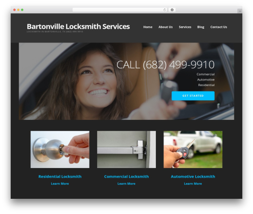WordPress website template Ascension - bartonvillelocksmith.com