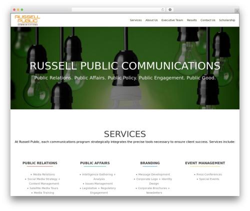 Zerif Lite free WP theme - russellpublic.com