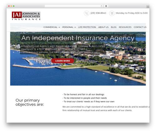 Advisor WordPress website template - jaiinsurance.com