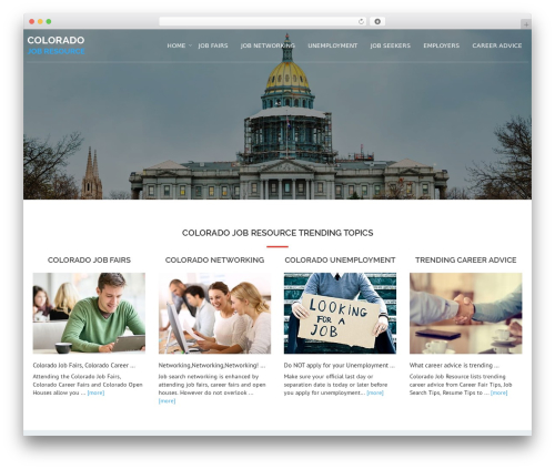 Avion WordPress page template - coloradojobresource.com
