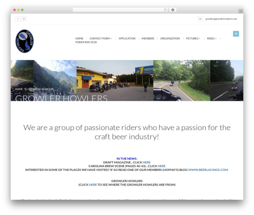 Best WordPress theme Bikersclub - growlerhowlers.com
