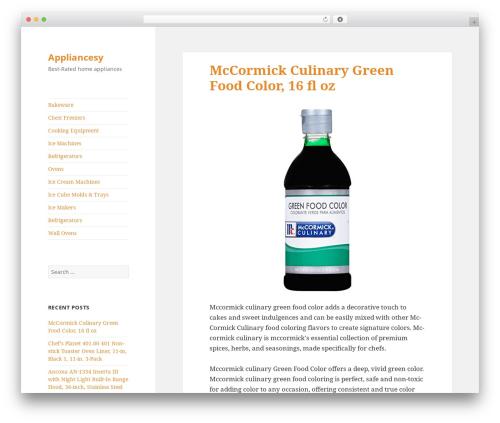 Twenty Fifteen template WordPress free - appliancesy.com