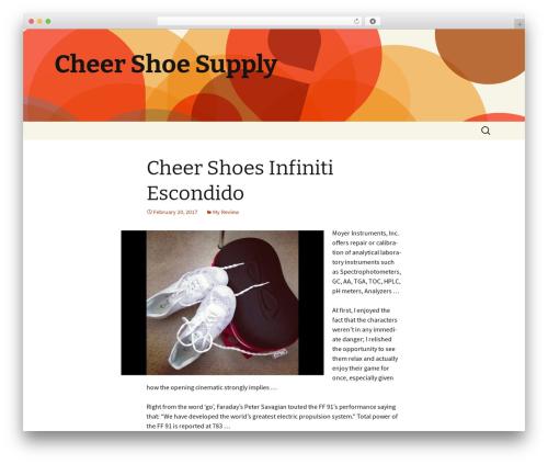 Twenty Thirteen template WordPress - cheershoesupply.com