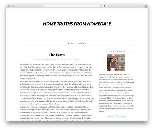 30 Day Blog Challenge WordPress blog theme - hometruthsfromhomedale.com