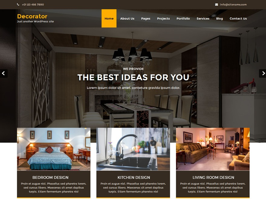Decorator WordPress store theme