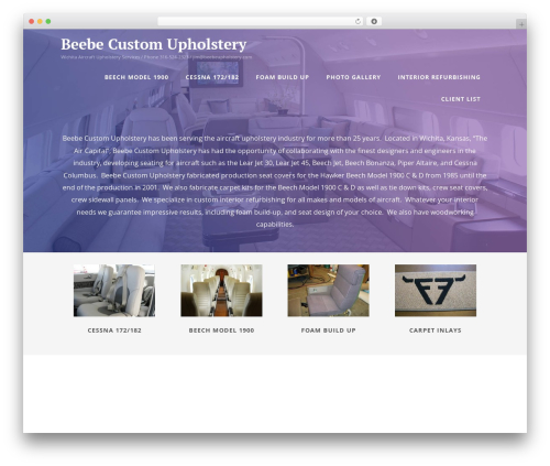 Optimizer best free WordPress theme - beebeupholstery.com