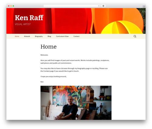 WordPress theme Twenty Thirteen - kenraffvisualartist.com