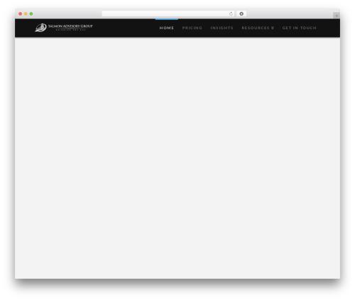 X premium WordPress theme - salmonadvisorygroup.com