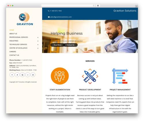 Advisor WordPress page template - gravitonsolutions.com