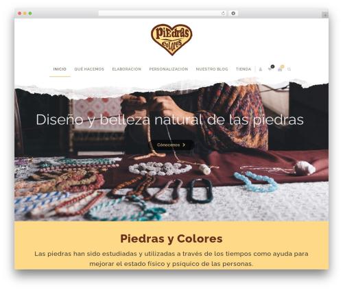 Zass WordPress page template - piedrasycolores.com