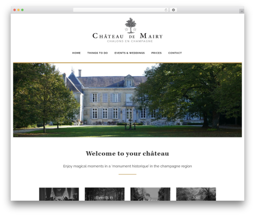 Best WordPress template Flux - chateaudemairy.com