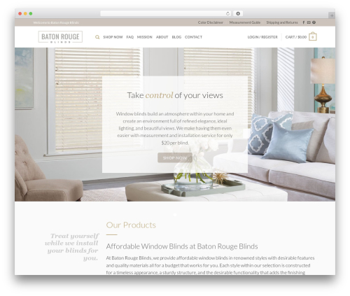 Best WordPress theme Flatsome - batonrougeblinds.com