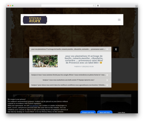 Betheme WP template - epicerie-arax.com